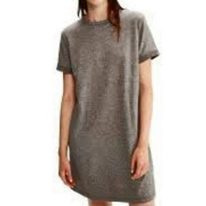Forever 21 Marled Gray Cuffed T Shirt Dress